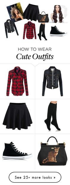 """""""Cute outfits"""" by go-chicago-cubs on Polyvore featuring WithChic, Dolce&Gabbana, LE3NO, Ralph Lauren and Converse"""