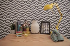 Geometric wallpaper is on-trend, makes a great statement and is fun to accessorise. Be bold.  To shop the rest of our Let's Create with Colour ad and for more inspiration just check out the other pins on our board.
