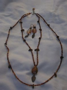 Hey, I found this really awesome Etsy listing at https://www.etsy.com/listing/237664984/tigers-eye-autumn-leaf-set