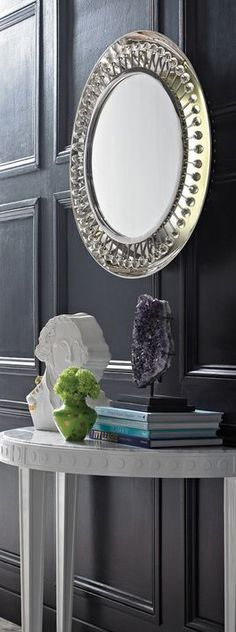 Twinkly reflection: bask in the warm glow of the backlit Mayfair Mirror. It's a sublime addition to a foyer or powder room.