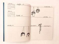 Weekly spread • Bullet journal • plants • doodles • 2018 Bujo