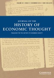 Journal of the History of Economic Thought - http://journals.cambridge.org/het