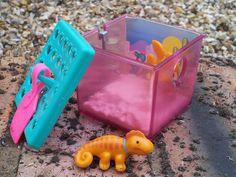 Racing Lizard with Desert Den - 1990s kenner littlest pet shop toys~~