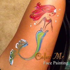 The Little Mermaid - Princess Face Painting - Color Me Face Painting