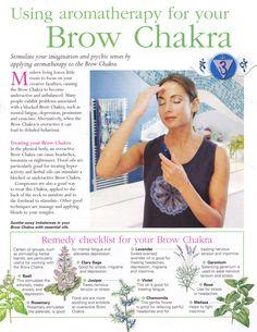 Using aromatherapy for the Brow chakra Ayurveda, 6 Chakra, Chakra Healing, Reiki, Mind Body Spirit, Mind Body Soul, Holistic Healing, Natural Healing, Crystal Healing