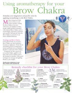 Using aromatherapy for the Brow chakra