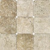 Found it at Wayfair - Tumbled Travertine Tile in Tuscany Walnut - possible bathroom floor