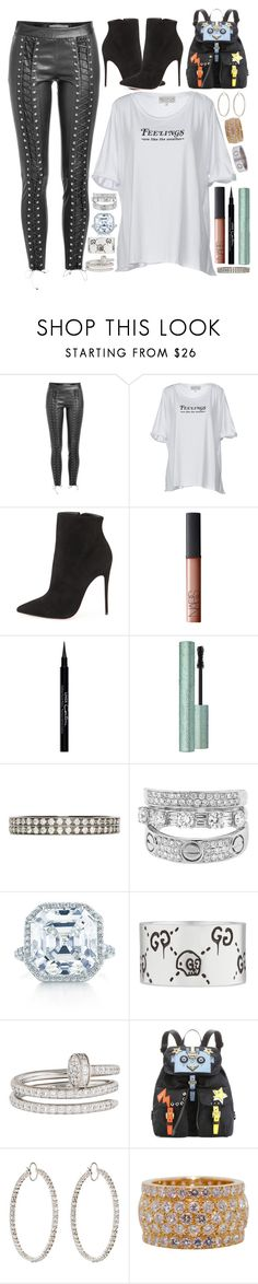 """feelings are for the birds"" by iriskatarina ❤ liked on Polyvore featuring Zoe Karssen, Wildfox, Christian Louboutin, NARS Cosmetics, Givenchy, Repossi, Tiffany & Co., Gucci, Cartier and Prada"