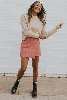 Cute Skirt Outfits, Winter Skirt Outfit, Cute Skirts, Cute Casual Outfits, Mini Skirts, Girly Outfits, Outfit With Skirt, Stylish Outfits, Casual Clothes