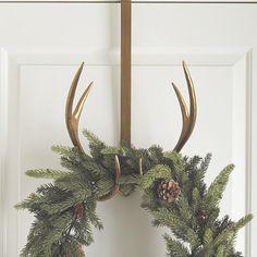 Antler Wreath Hanger Winter House, Decor, Glam Decor, Mini Candles, Wreath Hanger, Antler Wreath, Winter Home Decor, Christmas Decorations, Christmas Dining Room