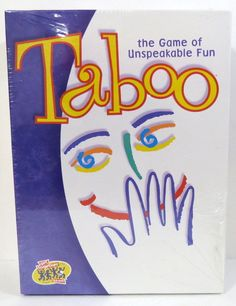 taboo the game of unspeakable fun for 4 adult players or more #Hasbro