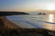 #sunset at #holywellbay #cornwall @VisitBritain