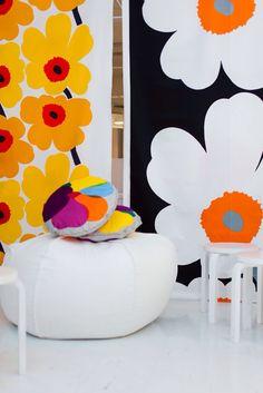 Marimekko´s spring/summer 2014 lines. Textile Patterns, Textile Design, Fabric Design, Print Patterns, Print Design, Textiles, Marimekko Fabric, Decor Scandinavian, Decoration