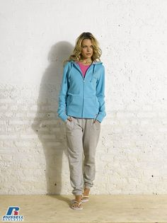 Russell Athletic Summer 2013 Ladies Collection #Russell #Athletic  #Russellbrands #Authentic #American #SportsWear #Apparel #Summer  #Collection #Sports #Wear #Sweatshirt #Womanswear Russell Athletic, Summer Collection, Sportswear, Khaki Pants, Bra, American, Sweatshirts, Lady, How To Wear