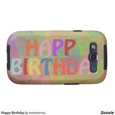 Happy Birthday Samsung Galaxy S3 Covers #HappyBirthday #Birthday #Party #Celebration #Art #Fashion #Mobile #Phone #Case #Cover #Samsung
