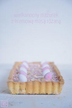 Nutka Słodyczy: Wielkanocny mazurek z kremową masą różaną Pie, Desserts, Food, Holidays, Torte, Vacations, Cake, Meal, Holidays Events