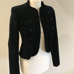 c204980fb72c7 New Look size 10 black velvet military jacket. Has a button - Depop  Victorian Goth