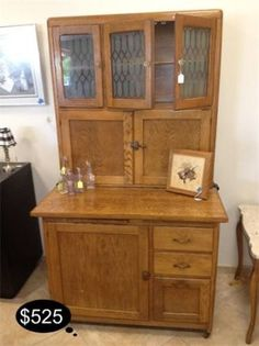 Before we had built in cabinets and work spaces in the kitchen we had Hoosiers. Add this vintage piece to your collection of rare finds.      Yesterdays Treasures Consignment    5829 Lone Tree Way Suite J    Antioch    925 - 233 - 4547