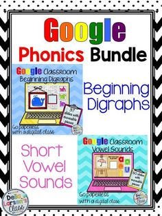 Go Google with this phonics resource. Get beginning digraphs and short vowel sounds. Perfect for increasing reading fluency in a blended 1:1 classroom. Embrace technology with your digital device.