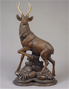 Black Forest - Grandmother Waldrep had several bronzes.  There were two Remington's, a stag similar to this, and a bear, among others.   I wonder who got them -- and whether they are still in the family at all.