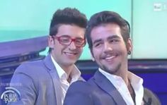 "Ignazio with ""that"" look!! Heh, heh, heh!!! What a twinkle in his eye!! Love that young man! Piero too!!! ⭐️IL VOLO⭐️"