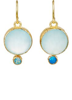 We Adore: The Lovely Double-Drop Earrings from Judy Geib at Barneys New York