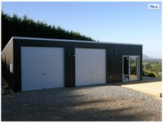 Browse our image gallery of quality steel sheds, garages, farm buildings, commercial buildings and more! Garage Kits, Garage House, Garage Ideas, Garage Shop, Car Garage, Pole House, Garage Doors, Carport Garage, Garage Plans