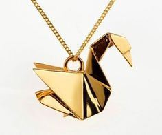 """Claire Naa and Arnaud Soulignac offer wonderful jewelry from their own brand """"Origami Jewellery"""". The inspiration came the French design friends during one night in the winter when their friend Masayuki Muraki taught them the typical Japanese folding handcraft. This collection of jewels pays tribute to the concept of Origami: refined lines, a proper identity and an originality without equal."""
