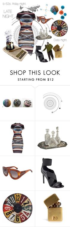 """b-52s"" by seasidecollectibles ❤ liked on Polyvore featuring Hervé Léger, Tom Ford, Kendall + Kylie, Uttermost, Avenue, In God We Trust and rockandroll"