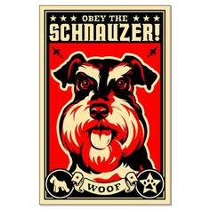 Schnauzer Dictator Large Propaganda Poster