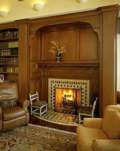 News from inglenook tile they found a huge walk in for Walk in fireplace designs