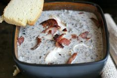 "Meat Lovers Cream Of Mushroom, ""Not Really Wild Rice"" Soup (Paleo, Dairy/Grain Free)"