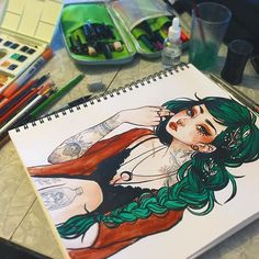 I finally got a chance to draw at the coffee shop today!!  I recorded the…