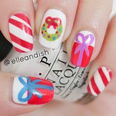 christmas by elleandish #nail #nails #nailart