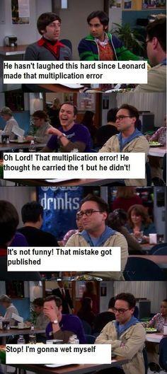 Big Bang Theory - multiplication error :)