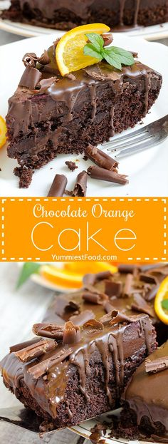 Make with Terry's Chocolate orange maybe? Chocolate Orange Cake - Real chocolate madness and perfect cake for chocolate lovers! Chocolate Orange Cake is moist, rich, flavorful, delicious and simply gorgeous! Just Desserts, Delicious Desserts, Yummy Food, Chocolate Lovers, Chocolate Desserts, Cake Chocolate, Terrys Chocolate Orange Cake, Chocolate Cream, Cake Recipes