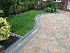 Do your neighbors love to talk about your yard? Block Paving Driveway, Walkway, Landscaping Supplies, Garden Landscaping, Front Driveway Ideas, Paver Designs, Path Ideas, Driveways, Cool Landscapes