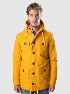 Revolution - Alvin Parka Jacket Washed Cotton Yellow | FreshCotton.com