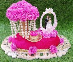 Designer Wedding Ring Ceremony Trays Ceremony Contact us : 9871111388 (call & whats app) Visit our Store : Laxmi Singla - The Wedding Designer Saraswati Vihar, Service Lane, Outer Ring Road, Pitampura, Engagement Ring Platter, Engagement Ring Holders, Ring Holder Wedding, Ring Pillow Wedding, Elegant Wedding Rings, Wedding Ring Designs, Engagement Decorations, Wedding Decorations, Thali Decoration Ideas