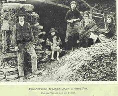 "oglaighnaheireann: ""'Evicted Tenant and his family' - Potato Famine, County Kerry """