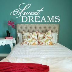 Sweet Dreams Decal, Sweet Dreams Wall Decal, Bedroom Decal, Bedroom Decor,  Bedroom