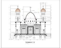 Masjid – irwanarnoleste What is Art ? Mosque Architecture, Architecture Sketchbook, Futuristic Architecture, Architecture Plan, Plan Autocad, Indian Interiors, House Front Design, Modern Stairs, Dream House Plans