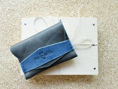 Leather Wallet Card holder hand stitched LIMITED by ArtNotebooks