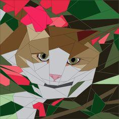 (7) Имя: 'Лоскутное: Кошка в саду 18'