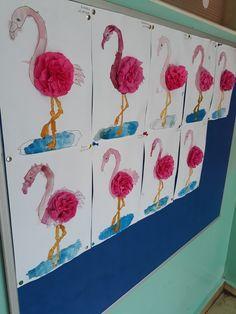 Güzel flamingolarımız #pink #flamingo #okulöncesi #preschool