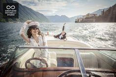 boat lake como wedding
