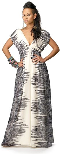 Photo credit: Project Runway/Lifetime Television But this maxi dress is FIERCE. And the designer and model is Trini!