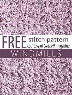 Stitch Patterns.  FREE PDF 7/14.