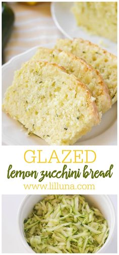 Glazed Lemon Zucchini Bread that requires no yeast, is simple, delicious and filled with grated zucchini, lemon and topped with a lemon glaze. #glazedlemonzucchinibread #lemonzucchinibread #zucchinibread #lemonbread #breadrecipe Glazed Lemon Zucchini Bread Recipe, Lemon Bread, Zucchini Bread Recipes, Yeast Bread Recipes, Bread Food, Lemon Recipes, Baking Recipes, Healthy Dessert Recipes, Delicious Desserts