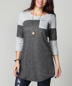 This Charcoal French Terry Raglan - Plus by Reborn Collection is perfect! #zulilyfinds